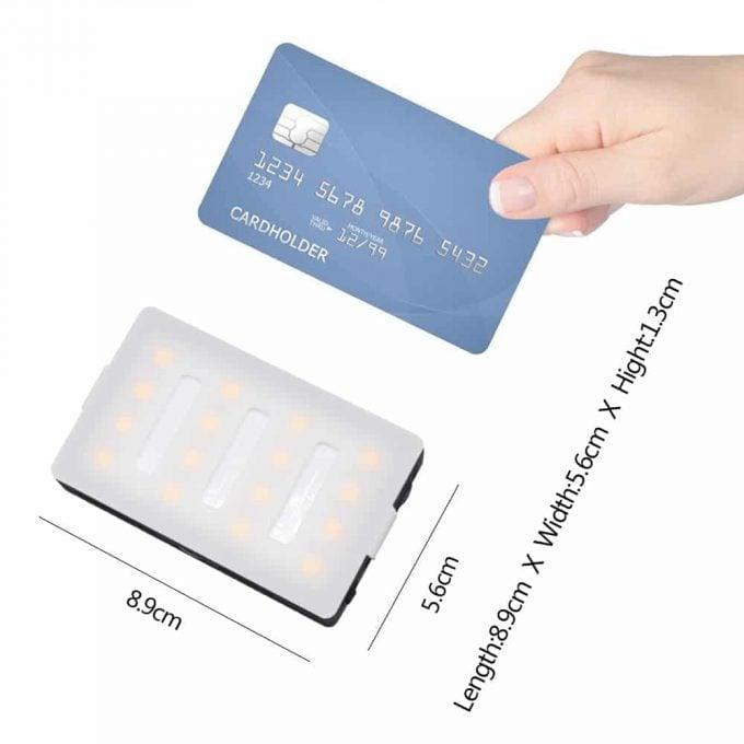 MCOPlus LUX1600 Mini LED-lamp creditcard