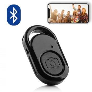 mojogear bluethooth shutter remote afstandsbediening robuust selfie foto smartphone mg-13 zwart