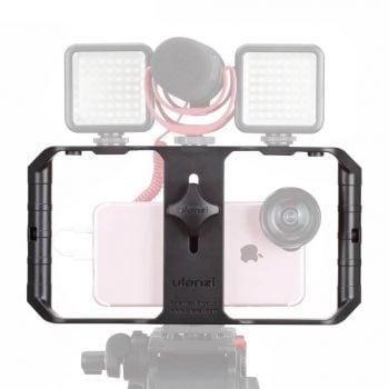 Ulanzi U-Rig Pro smartphone-houder op statief frontaal
