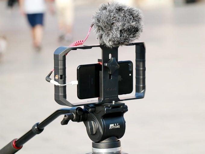 Ulanzi U-Rig Pro smartphone-houder op statief met microfoon