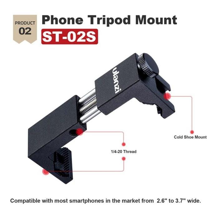 Ulanzi ST-02S telefoonhouder metaal cold shoe mount smartphone