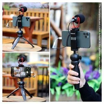 ulanzi u-vlog-3 tripod gorillapod tafelstatief telefoonhouder microfoon vlog kit