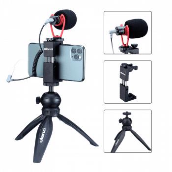 Ulanzi vlog-kit-3 statief-telefoonhouder-microfoon