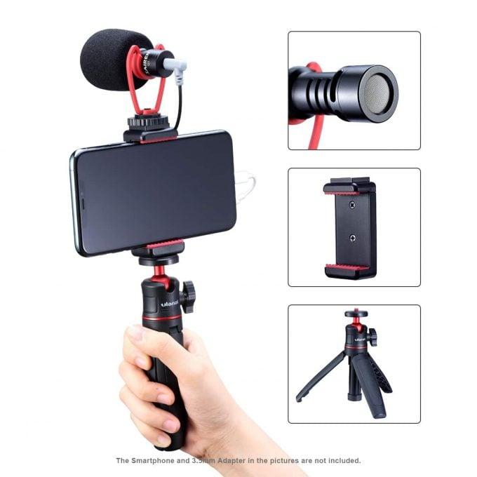 Ulanzi Vlog Kit 2 selfie stick telefoonhouder microfoon handhouder