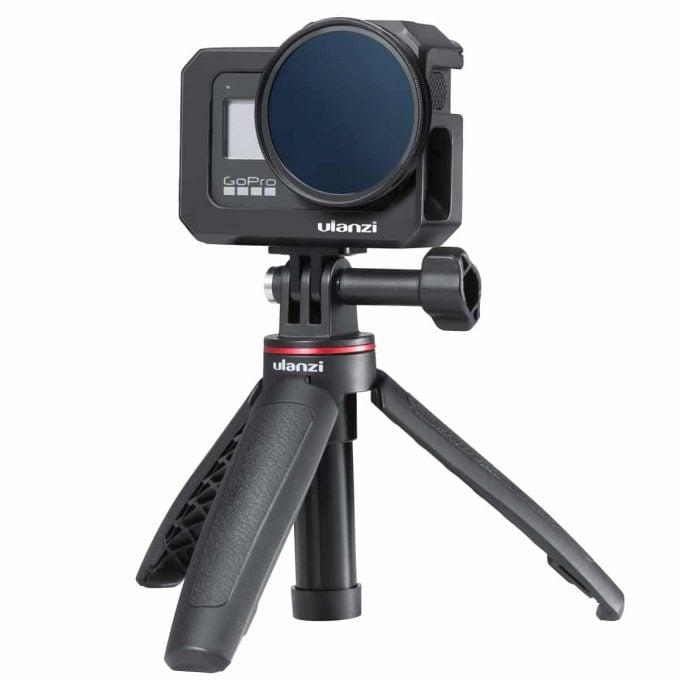 Ulanzi G8-5 GoPro 8 Vlog Cage filter op statiefje