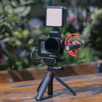 Ulanzi G8-5 GoPro 8 Vlog Cage sfeerfoto lamp
