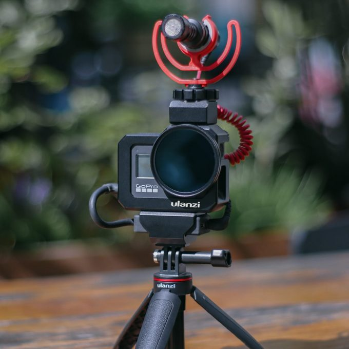 Ulanzi G8-5 GoPro 8 Vlog Cage sfeerfoto microfoon