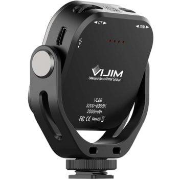 VIJIM VL66 Ulanzi draaibare LED-lamp omhoog