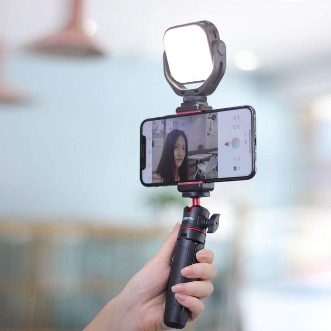 VIJIM VL66 Ulanzi draaibare LED-lamp sfeer op selfie videolamp cameralamp