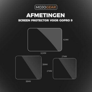 MG-91 screenprotector GoPro Hero 9 afmetingen