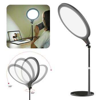 VIJIM K1 desktop ringlamp met statief