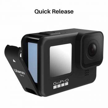 Ulanzi G9-3 batterijklep GoPro Hero 9 opladen tijdens filmen klep open