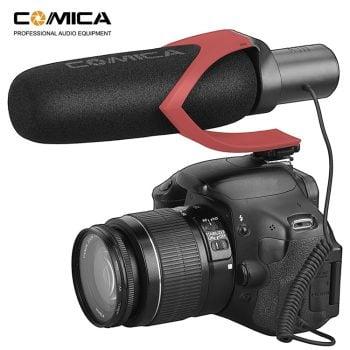 Comica CVM-V30 Pro richtmicrofoon voor camera - op camera schuin voor