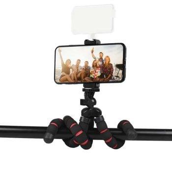 MOJOGEAR flexibel statief voor camera op stang