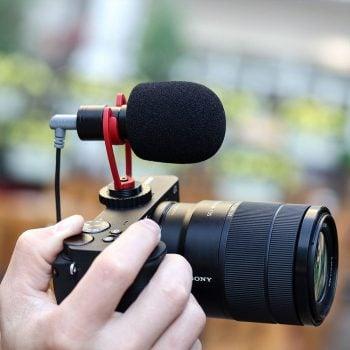 mojogear ulanzi sairen vm q1 richtmicrofoon camera smartphone trrs trs