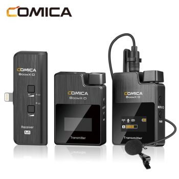 Comica microfoon BoomX-D MI2 iPhone:iPad met speldmicrofoon