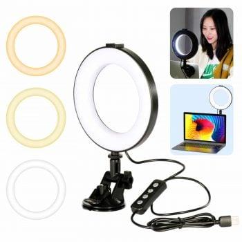 Ulanzi CL05 ringlamp met zuignap videobellen hoofdfoto