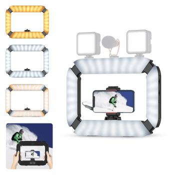 Ulanzi U-200 ringlamp Rig voor videobellen hoofdfotokopie