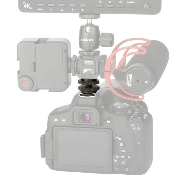 MOJOGEAR MG-P04 Cold Shoe Mount Adapter op camera