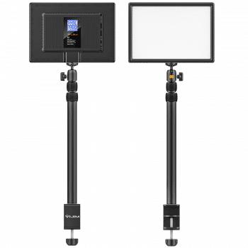 VIJIM K4 videolamp met statief en tafelklem voorkant en achterkant