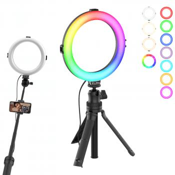 VIJIM K9 RGB Rinlamp met statief en telefoonhouder hoofdfoto