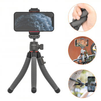Ulanzi MT-19 Flexibel statief met telefoonhouder donkergrijs hoofdfoto