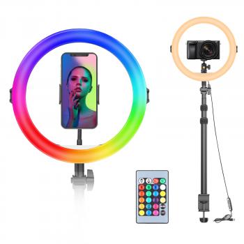 VIJIM K10 RGB Ringlamp met tafelklem