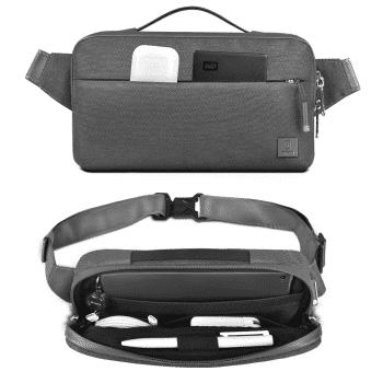 Wiwu Alpha waterafstotende heuptas voor kabels & accessoires binnenkant - Grijs hoofdfoto